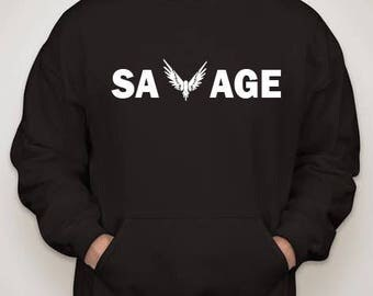 Logan Paul  Maverick Savage Hoodie Adult Size:Small-2XL
