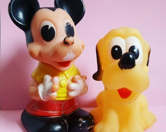 Mickey Mouse and Pluto Vintage Toys