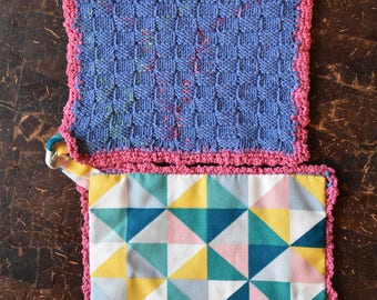 Pot holder pink-blue