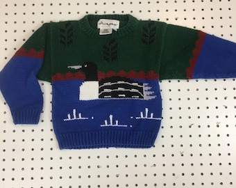 Vintage toddler 4T duck sweater