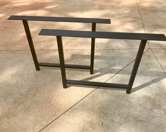 Metal Table Legs H Shaped Set of 2