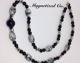 Marbled Black Necklace