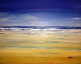 80cm x 60cm Original Art Painting Seascape Series Part #4 of 4