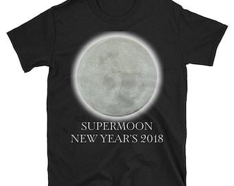 SUPERMOON New Year's 2018 Kick Off Lunar T Shirt