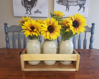 Sunflower Flower Box Centerpiece