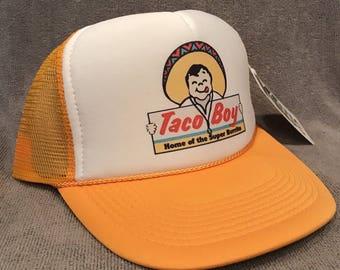 Taco Boy Trucker Hat Super Burrito Vintage  Snapback Cap Yellow 2278