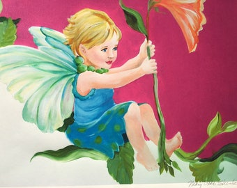 Sweet Pea Fairy Print