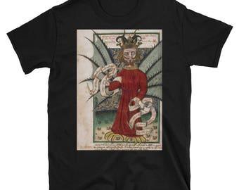 Medieval Satan- Devil- Short-Sleeve Unisex T-Shirt