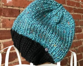 Confetti Blue Slouch Hat