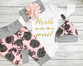 Newborn Girl Coming Home Outfit, Newborn Girl Outfit Hospital Leave, Newborn Girl Outfit Sets, Newborn Girl, Coming Home Outfit Winter
