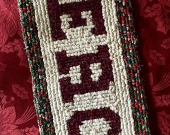 Locker Hook Christmas Peace Table Mat / Trivet / Wall Hanging