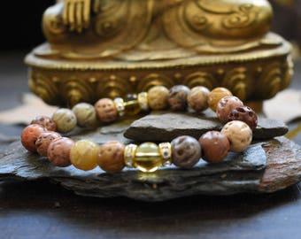 Earth and energy bracelet mala 10mm