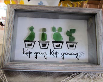 Keep Growing Seaglass Art Print