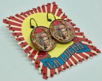Frida Kahlo and Zebra earrings