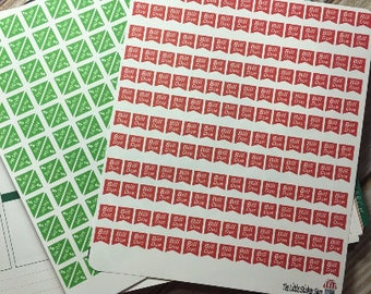 Mini bill due and Mini payday stickers. Perfect for any planner!