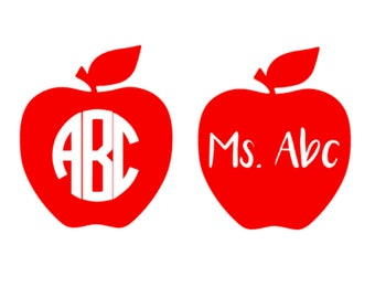 Custom Apple Monogram/Name Decal