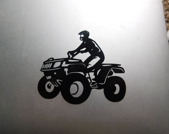 four wheeling decal, four wheeler decal, off roading truck decal, gift for him, rock crawling decal, four wheeling cooler decal, truck decal