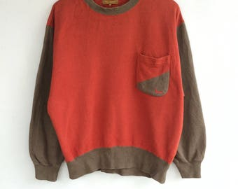 Vintage Lancel pocket Sweatshirts Size L/Sweater/Hoodie Jacket/Casual/Streetwear