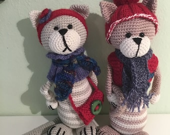 Cat, cats, deco, crochet