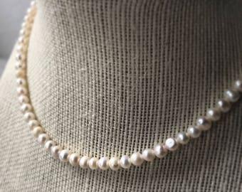 Pearl|natural chocker