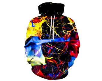 Paint Splat, Paint Hoodie, Painted Sweatshirt, Painting Clothes, Hoodie Art, Hoodie Pattern, Pattern Hoodie, Hoodie, 3d Hoodie - Style 5