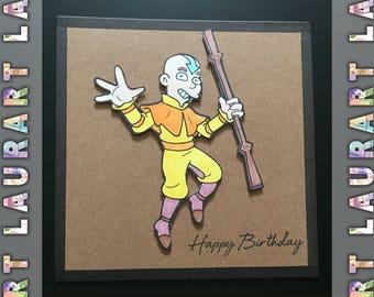 the last airbender, Aang birthday card