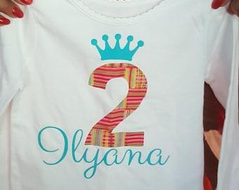 African inspired birthday shirt