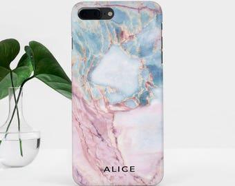 Marble iPhone 7 Case Custom Name iPhone 8 Plus Pink Marble Samsung S7 Edge iPhone 6 Plus Marble Galaxy S8 Plus iPhone SE Case iPhone 6S Case