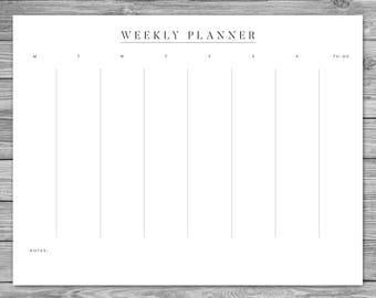 weekly agenda planner template
