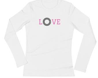 L-O-V-E Ladies' Long Sleeve T-Shirt