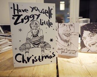 Ziggy Stardust - C5 Xmas Card