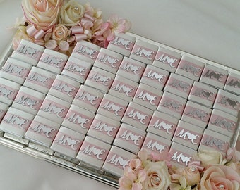 10 pieces of chocolate with names on it from Pleksi-wedding/engagement gift for the guests