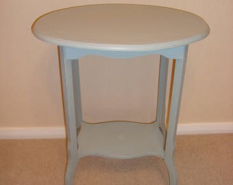 Shabby Chic Console Table painted in Annie Sloan 'Duck Egg Blue'