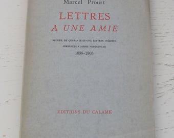 Marcel Proust: Lettres à une Amie - [Manchester, 1942 - Edition Originale]