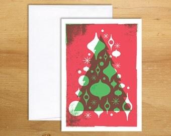 Christmas Card  /  Christmas Tree Card /  Christmas Ornament Card
