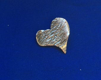 Pendant, sterling silver heart charm