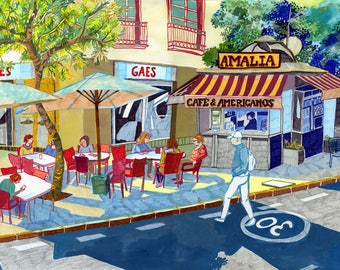 Café Amalia print A4/A3