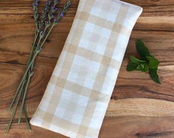 Bean Bag Heating Pad - Microwavable Bean Bag Pad - Valentines Day Gift - Microwave Lavender Eye Pillow - Warming Bag - Eye Mask - Peppermint