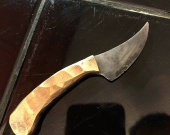 Neck Knife in 1095 and Brass