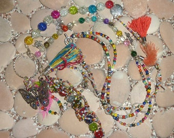 Long chain hippie BOHO Ibiza Butterfly-Colorful