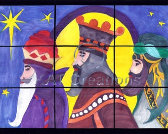 3 Wise Men Christmas Poster, group activity
