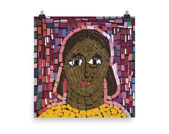 Amarachi's Self Portrait - Beautiful Archival Cotton Rag Fine Art Giclée Print Supporting the Nonprofit Fresh Artists