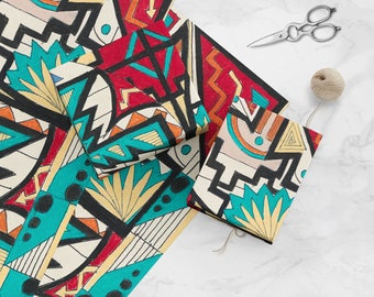 Navajo Pattern - 2014-079-16 - Amazing and colorful wrapping paper on a mission supports public school art education nationwide