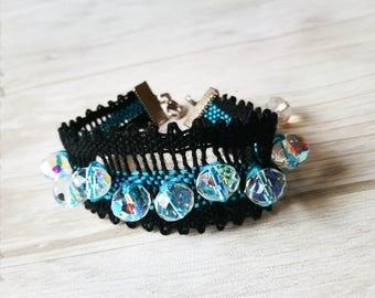 Bobbin blue bracelet