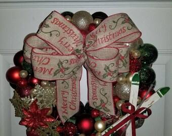 Christmas ornament wreath.