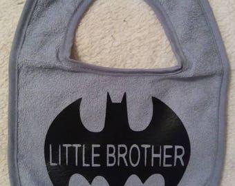 Lil brother batman bib