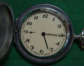 old vintage Soviet pocket watch Molnia, USSR mechanical pocket watch, Molnija  watch,Men's pocket watch,Wind up watch, vintage pocket watch