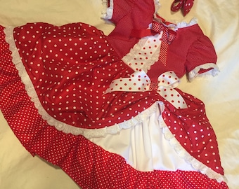 Christmas Minnie Mouse Style Party Dress