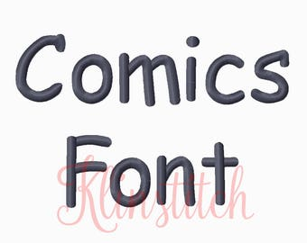 50% Sale!! Comics Embroidery Fonts 4 Sizes Fonts BX Fonts Embroidery Designs PES Fonts Alphabets - Instant Download
