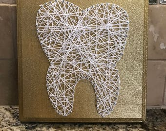 Tooth String Art